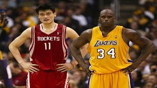 Every Yao Ming and Shaq 3 Pointer of Their Careers