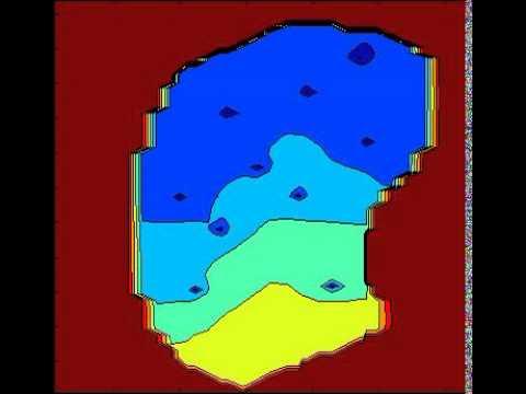 MATLAB Reservoir Pressure Contour Plot