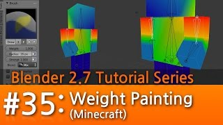 Blender 2.7 Tutorial #35 : Weight Paint Mode (Minecraft) #b3d