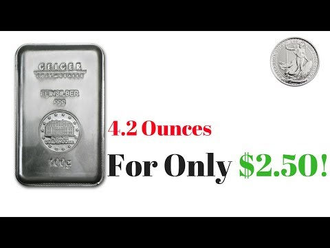 4.2 Ounces of Silver For Only $2.50