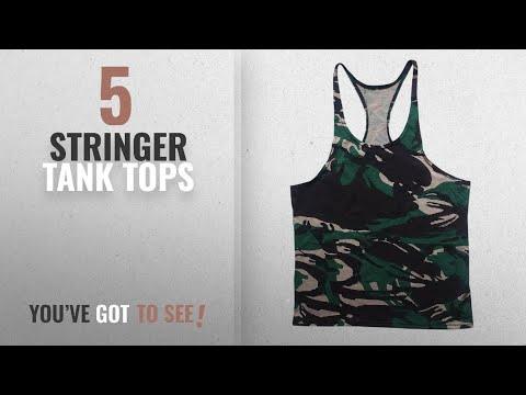 Top 10 Stringer Tank Tops [Winter 2018 ]: MANSTORE Men's Blsnk Stringer Y Back Cotton Sport Tank