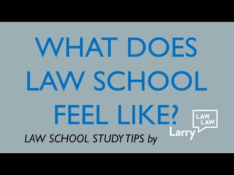 What Law School Is Really Like?  What does it feel like?  Why is it stressful?