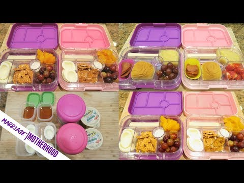 Healthy Simple School Lunches {YUMBOX} + What they ate