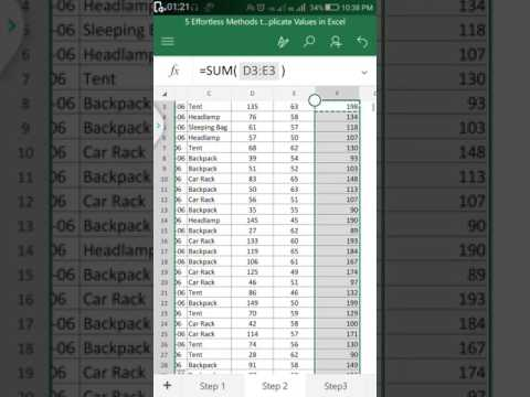 How to use sum formula in mobile excel