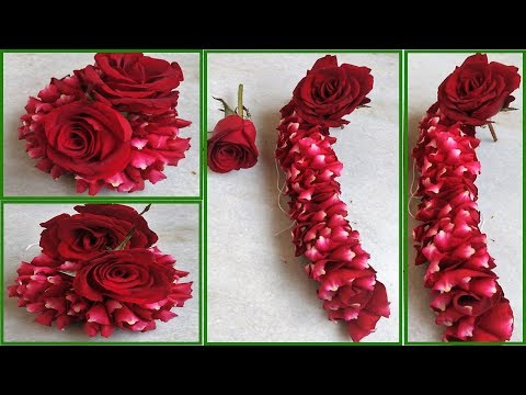 How to String  Rose Petals garland    Easy Method to make Rose Petals   Today Fashion