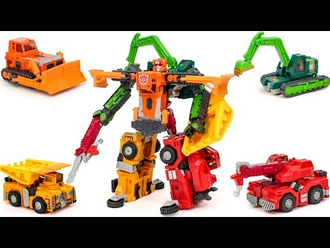 Transformers Car Robots RID Construction LandFill Carbot Build king Vehicle Combine Robot Car Toys