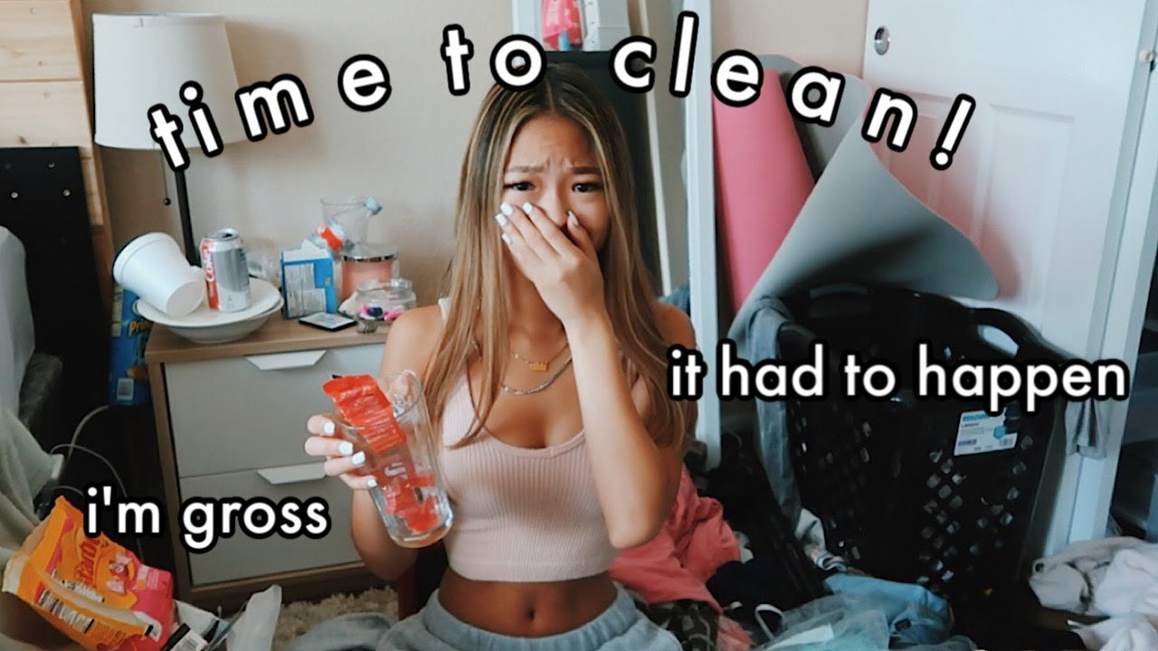 CLEANING MY HORRENDOUS ROOM! declutter + organize *satisfying*