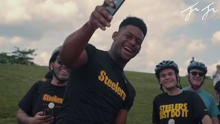 JuJu Smith-Schuster Goes Bike Riding with Fans