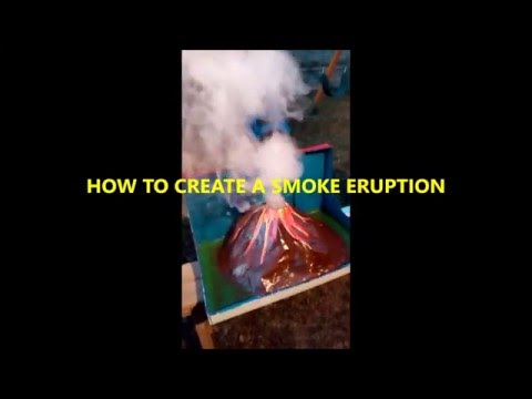 Simulated Volcano Smoke Eruption (Science Project) READ DESCRIPTION