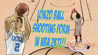NBA 2K17 - LONZO BALL JUMP SHOT!!! OMG!! LONZO BALL SHOOTING FORM (CUSTOM JUMP SHOT)