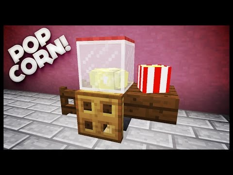 Minecraft - How To Make A Popcorn Machine