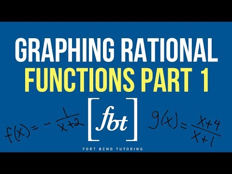 🎓Graphing Rational Functions Part 1: Common Functions [fbt]