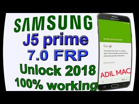 Bypass google account Samsung Galaxy J5 Prime G570F Remove FRP latest security update 2018