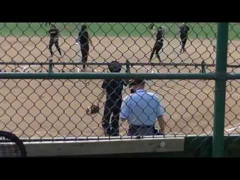 California Vulcans Softball , NCAA d2, screwball, riseball. Calu, softball game action pitching.