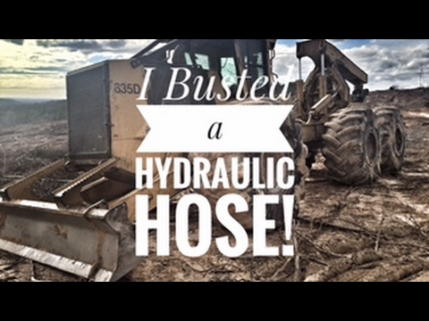 I busted a hydraulic hose and how we do our safety meetings!