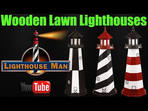 Wooden Lawn Lighthouses - Lighthouse Man