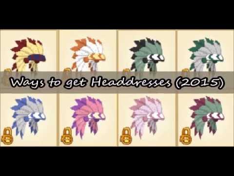 Easiest Ways To Get a Headdress -2015- (Animal Jam)