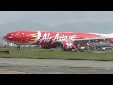 Air Asia X Landing In Kathmandu Airport