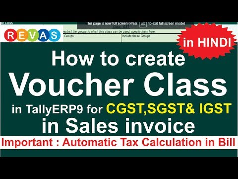 How to create VOUCHER CLASS in tally ERP9  under  GST in CGST & SGST