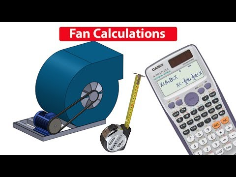 Fan & motor CALCULATIONS, Pulley size, RPM, air flow rate
