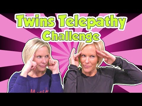 Twins Telepathy Challenge with Identical Twin Sisters | DavidsTV
