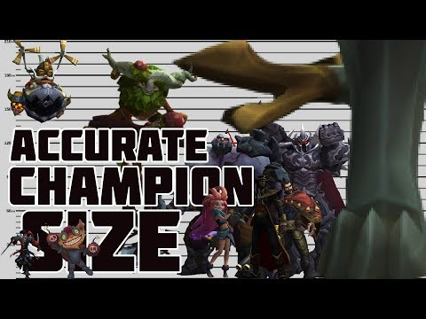 Champion Sizes According to Lore