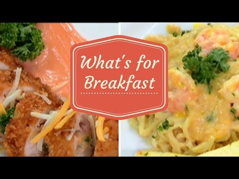 Longganisa Cordon Bleu & Creamy Salted Egg with Shrimps Pasta   What's for Breakfast