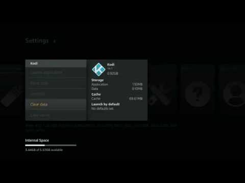 How to Clear App Data for Kodi with Amazon Fire TV