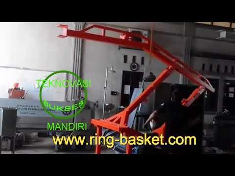 Ring basket portabel BSP 02 -  uji coba rangka dan hidrolik