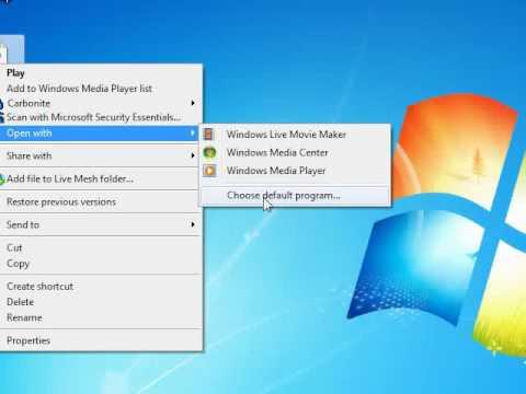 Set Default Programs in Windows 7
