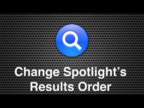 Change Spotlight Search Results Order In Mac OS X