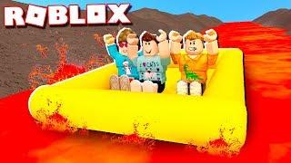 Roblox Adventures - RAFT SURVIVAL DOWN A 9999 FT LAVA RIVER! (Raft Survival)