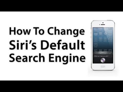 [iOS Advice] How To Change Siri's Default Search Engine