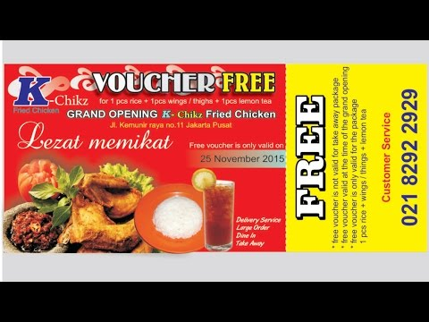 CorelDraw Tutorial - Design Vouchers (fried chicken & lemon tea for free)