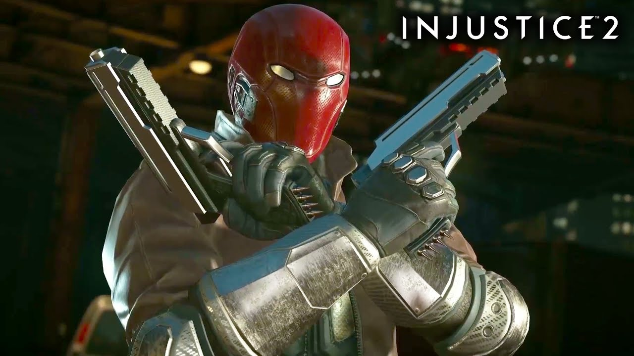 INJUSTICE 2 RED HOOD Gameplay Trailer + Super Move | New Character DLC 2017