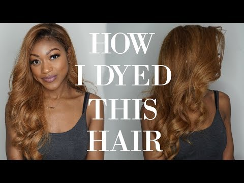 HOW I DYED MY BUNDLES HONEY BLONDE | FEAT. HAIR VILLA