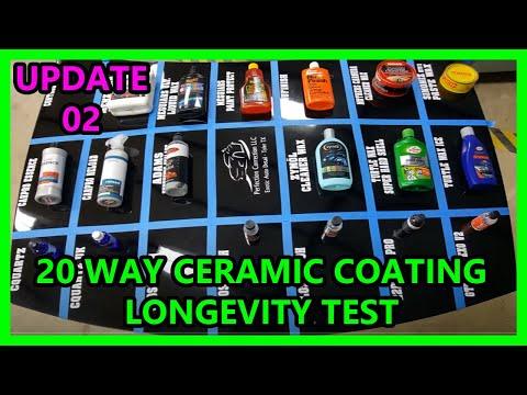 UPDATE 02: 20 way Ceramic coating synthetic wax longevity test Perfection Correction LLC