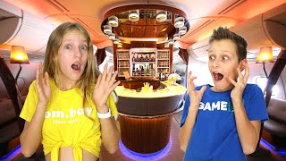 Going to Dubai on Airplane with a Bar!