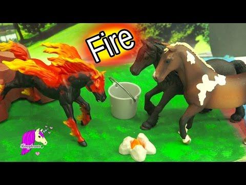 The Fire Horse Legend - Schleich Horses Spooky Halloween Video - Honeyheartsc