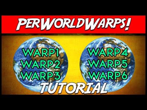 Minecraft | PerWorldWarps! (Warps for certain worlds) | Plugin Tutorial
