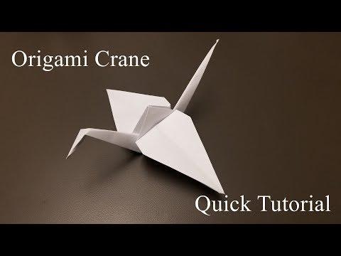 Origami Crane - How to Make the Origami Crane - Quick Tutorial