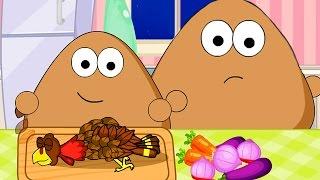 Pou Baby Cartoon - Pou Baby Thanksgiving Slacking Game for Kids