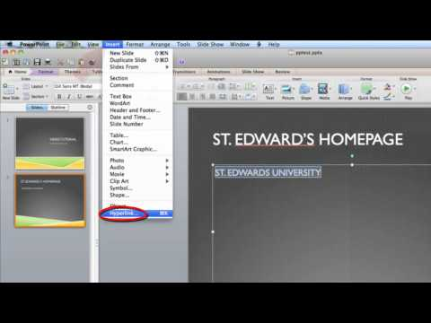 Creating a hyperlink in PowerPoint (Windows 2010 and Mac 2011)