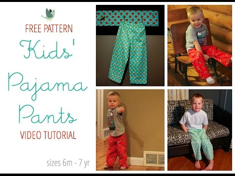 How To Sew Pajama Pants free pattern!