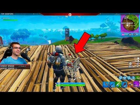 Nick Eh 30 reacts to the NEW Shopping Cart in Fortnite! (Gameplay + First Reaction)