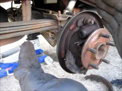 Replacing rear brakes on a Ford Ranger