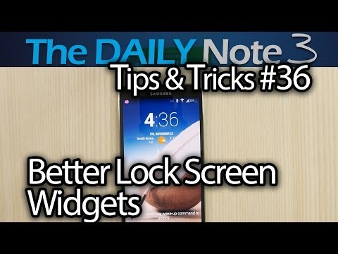 Samsung Galaxy Note 3 Episode 36: How To Set Better Lock Screen Widgets With Better Functionality?