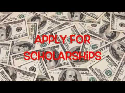 Apply for scholarships!