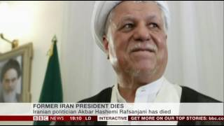 Former Iranian President Akbar Hashemi Rafsanjani died Sunday Jan 8 2017 after a heart attack