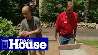 How To Lay A Brick Paver Walkway This Old House